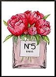 4Good Epictures Din A3No. 5 Parfümflasche mit Blumen