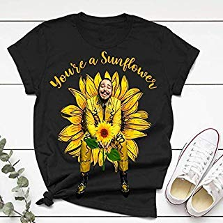 Post You're A Sunflower Leave Me Malone Tshirt, Hiphop Tshirt,Music Tshirt Gift For Men And Women Unisex T-shirt - Premium T-shirt - Hoodie - Sweater - Long Sleeve - Tank Top