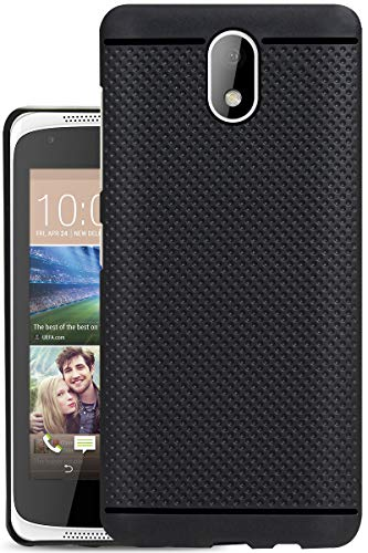 Jkobi® 360* Protection Premium Dotted Designed Soft Rubberised Back Case Cover for HTC Desire 326G Dual Sim -Black