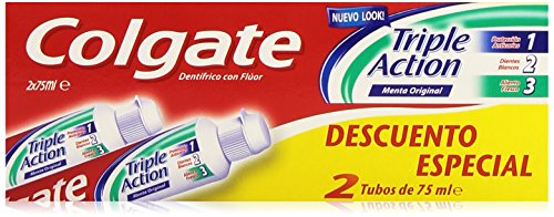 Colgate - tandpasta - Triple Action - 2 x 75 ml