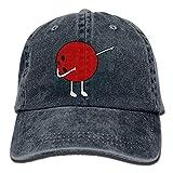 ANIDOG Le Fil réglable Teint des Casquettes de Baseball de Denim tamponnant Le Chapeau de Snapback de Boule de Bowling Multicolore