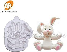 Generic Lovely Rabbit Silicone Mold Easter Cake Decoration Mold 3D Silicone Cake Mold Fondant Cake Decorating Tools Bakery...