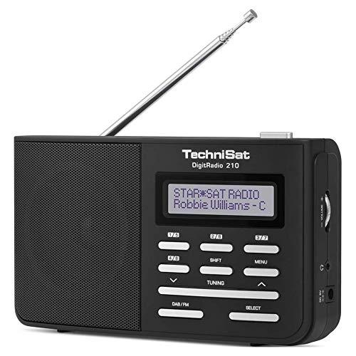 TechniSat DigitRadio 210 Kofferradio DAB+, UKW Schwarz