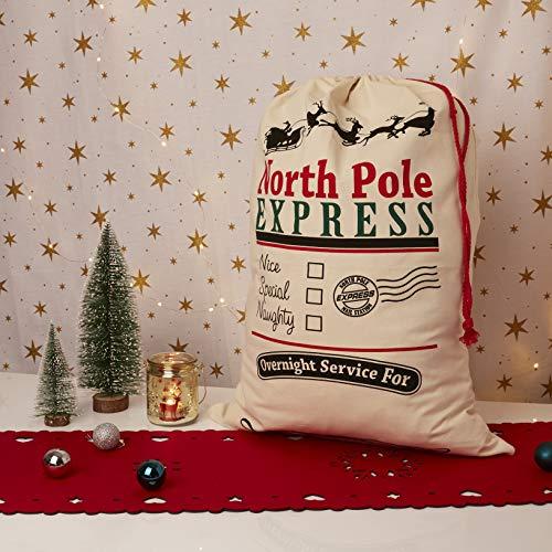 UltraByEasyPeasyStore Grande Personalizada Bolsa de Navidad Saco de Santa Claus Adultos Niños Saco Travieso Especial o Agradable