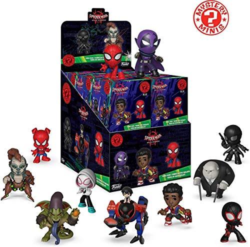 Funko–Mystery Mini Blind Box Color Marvel: Spiderman Animated Color PDQ (CDU 12), multicolor, 34757 , color/modelo surtido