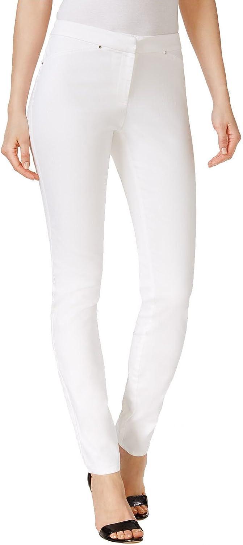 Alfani Petite RivetDetail Skinny Pants (Bright White, 6P)