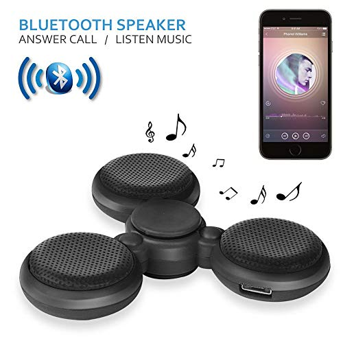 1x LED Bluetooth Tri Fidget Spin Music Speaker Desk Toy Gyro EDC-Black - by Elizabeth Peacock 1991