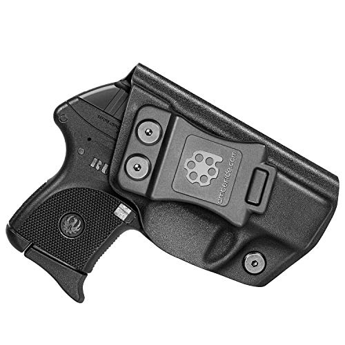 Amberide IWB KYDEX Holster Fit: Ruger LCP 380   Inside Waistband   Adjustable Cant   US KYDEX Made (Black, Right Hand Draw (IWB))