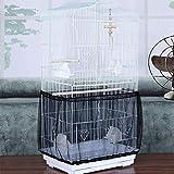 LACKINGONE Funda para Jaulas de Pájaros Ajustable, Cubierta de Malla para Jaulas, Protector y Red para Jaulas de Aves, Malla de Nylon para Jaula de pájaros, Colector de Semillas (1pc)(Negro)