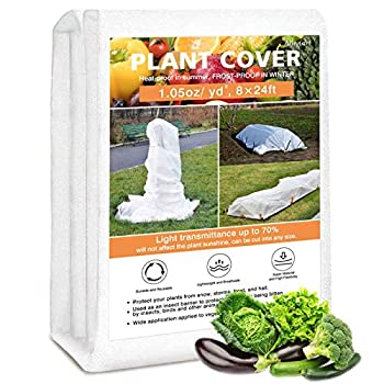 Alinnart Plant Covers Freeze Protection 8ft×24ft Garden Fabric Frost Blankets for Outdoor Plants 1.05oz Floating Row Covers for Vegetables Reusable Frost Protection for Plants