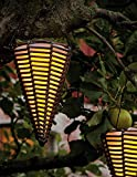 Arnusa Solarleuchte Rattan zum Hängen Solarlampe Hängeleuchte Gartenlampe