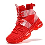 VITUOFLY Kids Basketball Shoes Boys Air Cushion Sneakers Girls Mid Top School Training Shoes Non-Slip Outdoor Sports Shoes Comfortable Boys Running Shoes Durable Little Kid/Big Kid