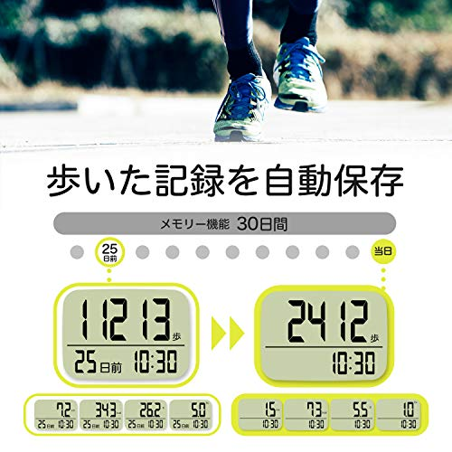 dretec(ドリテック)歩数計大画面消費カロリーエクササイズ表示3Dセンサー30日間メモリーH-235PKピンク