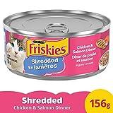 Friskies Shredded Chicken & Salmon Dinner Cat Food 156g, 24 Pack, 3.74 kg