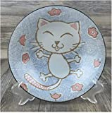 Set di ciotole per cereali Ceramica ciotola piatto piatto creativo carino riso dessert cereale ciotola set pasta piastra stagionatura miso stoviglie pink fortunato gatto pesce (taglia: 13,2 cm * 6.8 c
