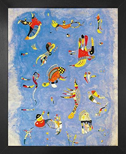 1art1 Wassily Kandinsky Poster Kunstdruck und MDF-Rahmen - Himmelblau, 1940 (50 x 40cm)