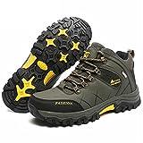 RatenKont Zapatillas Impermeables para Hombre Botas Senderismo Antideslizantes para Hombre al Aire Libre Army Green 39