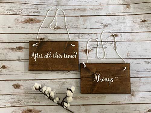 Gale66Lucy Letrero de madera con texto en inglés 'After All This Time Always Harry Potter', para decoración de cena