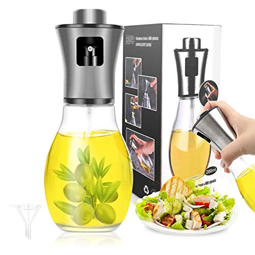 hicoosee Pulverizador Aceite, Spray Aceite Cocina Dispensador de Botella de Aceite de Vdrio de Acero...