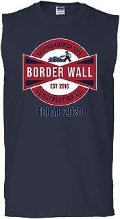 Border Wall Keep America Safe Muscle Shirt Trump for President 2020 Sleeveless