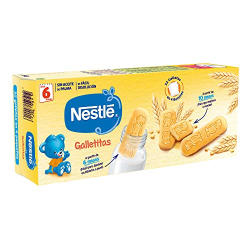 Nestlé Galletitas para bebés desde 6 meses - 12 paquetes de 180 gr