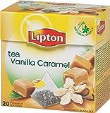 Lipton VANILLA and CARAMEL Tea Bags - Sealed Boxes of 6 x 20 bags = 120 pyramid tea bags