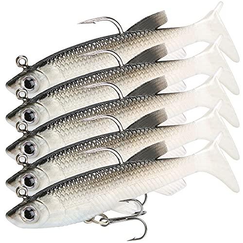 GZGXKJ 5 Señuelos Pesca Señuelos Pesca Black Bass Cebos Artificiales de Pesca para Mar Articulos de Pesca Señuelos para Lucio para la Pesca de Agua Salada, Trucha, Perca