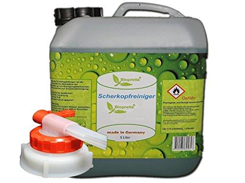 Biopretta Scherkopfreiniger 5000ml Nachfüllflüssigkeit für Reinigungskartuschen