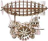 SLL Kit de maquetas mecánicas de avión, rompecabezas de madera 3D, corte láser, autoensamblaje sin pegamento, construcción de engranajes, kit móvil impulsado (color: vehículo aéreo)