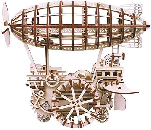Regalo Modelo de avión mecánico Kit-3D Rompecabezas de Madera Corte con láser, Auto-ensamblaje sin Equipo de construcción de Pegamento Mobile Mobile Kit (Color : Air Vehicle)