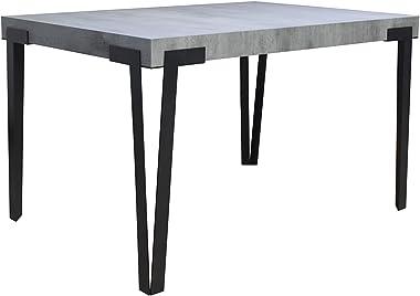Rio Table extensible avec plateau blanc brillant 90 x 130 cm allongée 234 cm, cadre anthracite