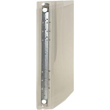 A5 6穴 保存バインダー-R22-透明-ホワイト-HB-3011-CL