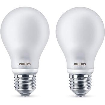 Philips LEDclassic Lampe ersetzt 60 W, E27, warmweiß (2700K), 806 Lumen, Doppelpack