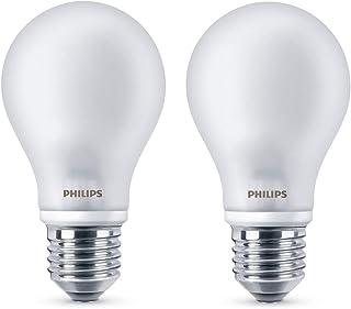 Philips Bombilla LED esférica E27, 6,7 W equivalentes a 60 W en incandescencia, 806 lúmenes, luz blanca cálida