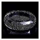 OMING cenicero Crystal Glass Cenicero Lujo Diamante-Studded Personalidad Creativa Trend Moda Hogar Sala de Estar Oficina Gran cenicero Titular de cenicero de Cigarrillos (Size : 20cm)