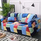 WXQY Fundas de sofá elásticas para Sala de Estar Funda de sofá Todo Incluido Estiramiento Protector de Muebles Fundas Sillones Fundas de sofá A14 1 Plaza