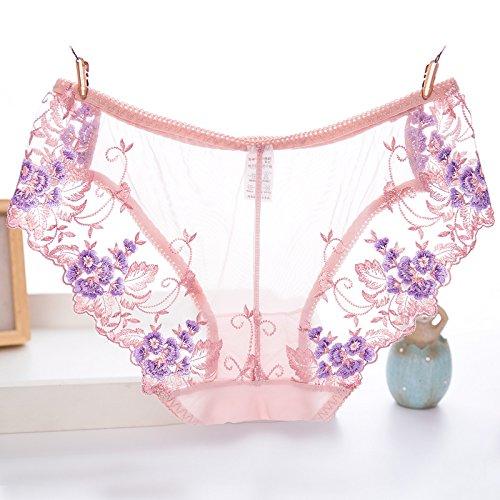 Rey&Qing La Niña Bordados De Flores Algodón Cintura Underwear Briefs Archivo,83-95 La...