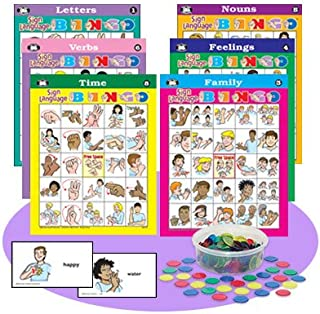 Super Duper Publications American Sign Language Bingo Game Educational Learning Resource for Children