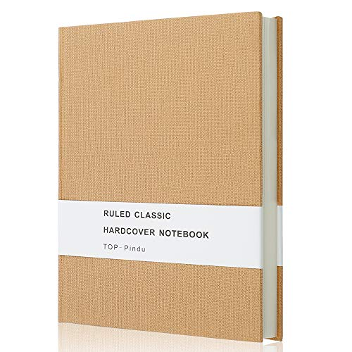 Notebook A5 Journal, Thick Classic Notebook, Large Hardcover, 296pp, 80gsm, 8.4 x 5.7 inch (Kraft)