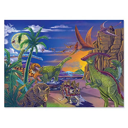 Melissa & Doug 60 pc Land of Dinosaurs Cardboard Jigsaw