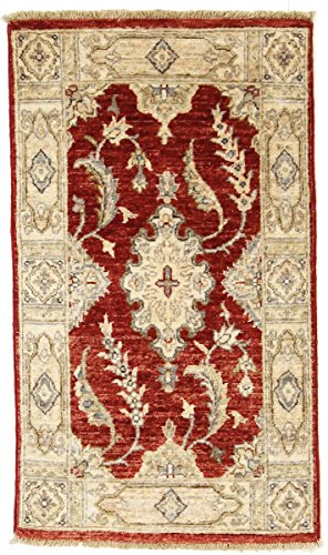 Nain Trading Ziegler Farahan 103x57 Orientteppich Teppich Läufer Beige Handgeknüpft Pakistan
