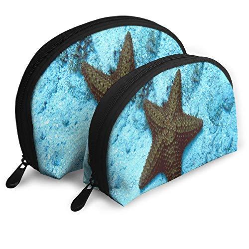 Trousse de Maquillage San Miguel Starfish Portable Shell Organisateur de Toilette pour Les Femmes Voyage 2 Pack
