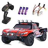 RC Cars, 1/18 Scale High-Speed Remote Control Car for Adults Kids, 30+ kmh 4WD 2.4GHz Off-Road Monster RC Truck, All Terrain Electric Vehicle Toy Boy Gift with 2 Batteries for 30+ Min Play