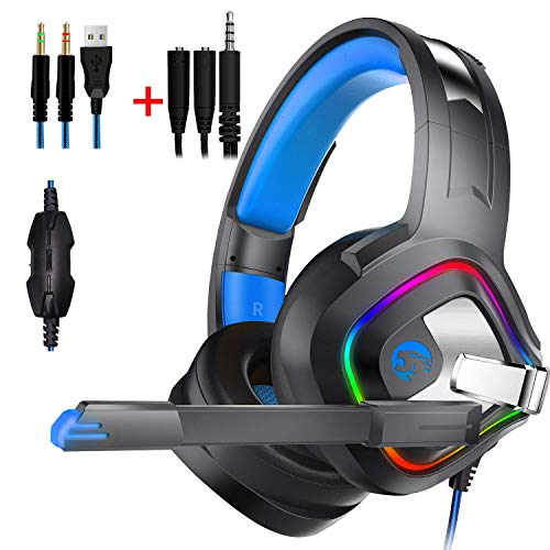 PC Gaming Headset, Mofans cuffie stereo, per Xbox One, PS4, Mac, laptop, Surround Sound, riduzione del rumore digitale Micrphone, idea regalo