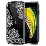 CYRILL Cecile, Designed for Apple iPhone SE 2020 case, iPhone 8 case (2017), iPhone 7 case (2016) - White Mandala
