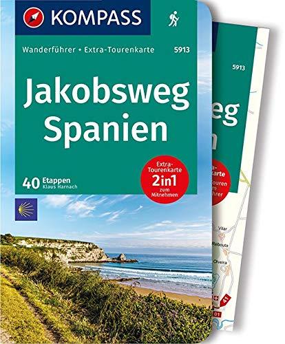 KOMPASS Wanderführer Jakobsweg Spanien: Wanderführer mit Extra-Tourenkarte 1:110.000, 40 Etappen, GPX-Daten zum Download.