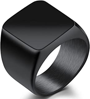 Jude Jewelers Stainless Steel Signet Ring Black Silver Gold Classical Cocktail Husband Father Valentine