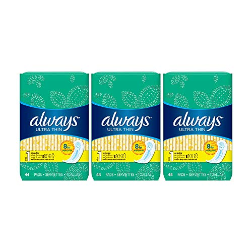 Always Ultra Thin Pads Size 1 Regular Absorbency Unscented - 44ct