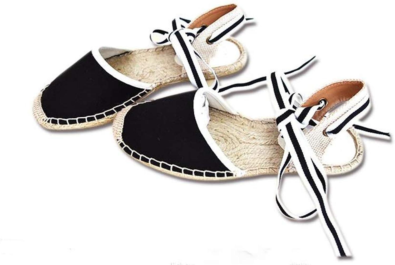 Excellent.c Outdoor Linen Slippers Non-Slip Flat shoes Women's Sandals