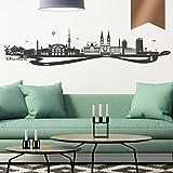 WANDKINGS Wandtattoo - Skyline Bremen (mit Fluss) - 130 x